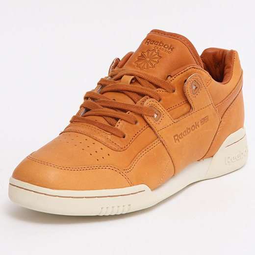 992ee76f3ec The Reebok Workout Plus appears in a luxury new make up for Spring 2015.  Reebok team up with famed Chicago based Horween Leather Co. to dress up one  of ...