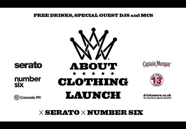 News | ABOUT Clothing Launch | Number Six | 6 July